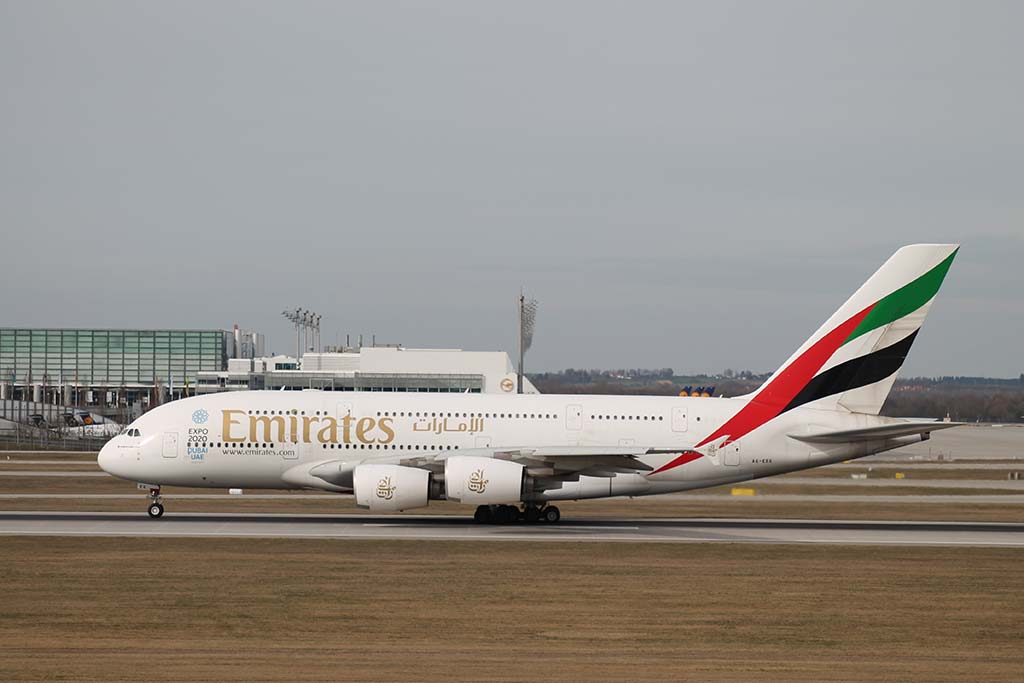 Emirates A6-EEE in MUC